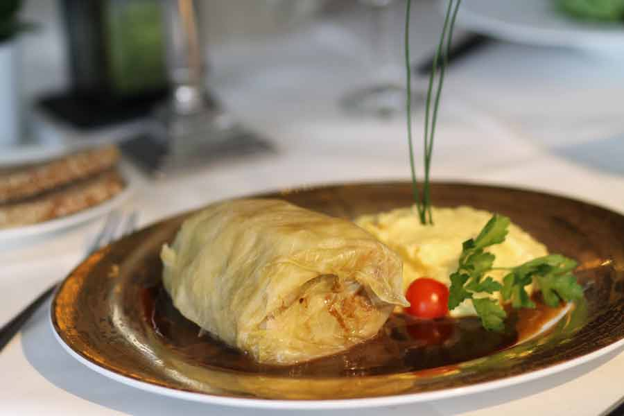 Kohlroulade Mittagstisch Staad